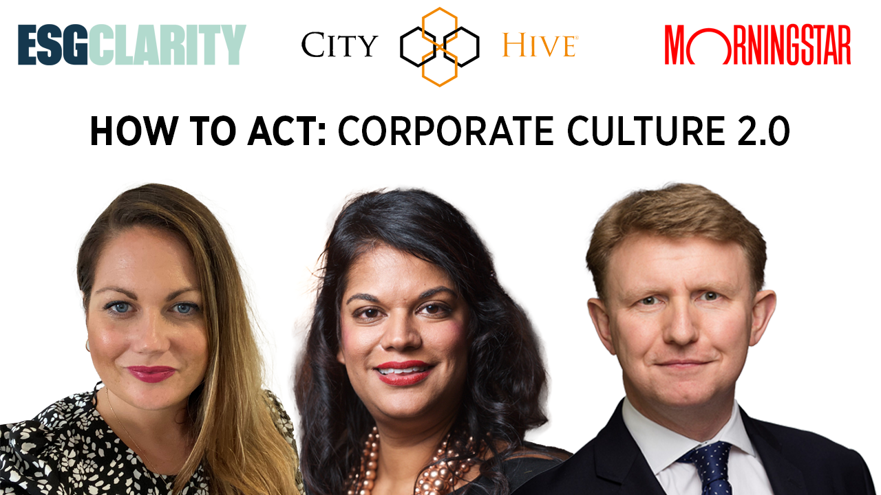 How to ACT: Corporate Culture 2.0 – The new roundtable series from ESG Clarity, City Hive and Morningstar