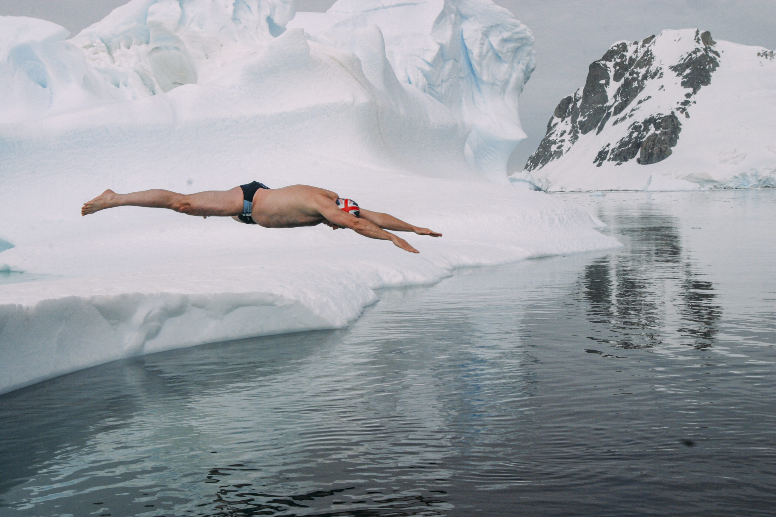 Swimming at Ilulissat shows effects of global warming
